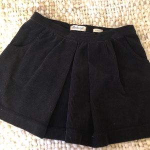 Pleated Corduroy Mini Skirt with Pockets
